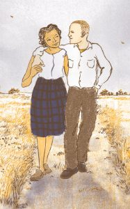 Shadra Strickland illustration of the married Loving couple.