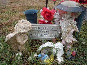 Mildred's grave site